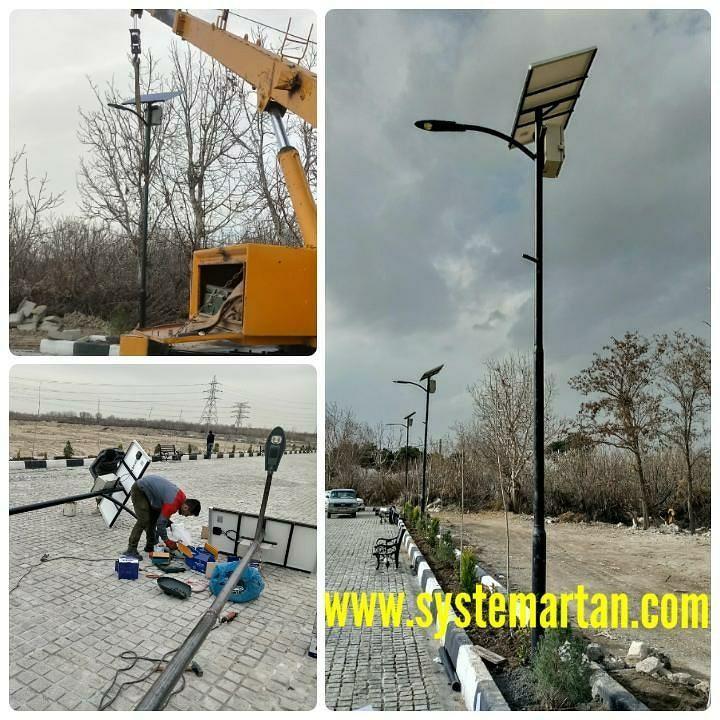 تیر برق خورشیدی اتوماتیک خورشیدی